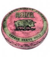 REUZEL Pomade pink heavy hold grease - starker Halt - wenig Glanz, 35g